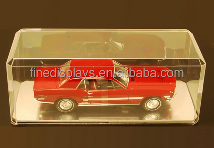 Acrylic Display Case for 1/18 Scale Diecast Model Toy Cars - with mirrored base(DM-A-080)