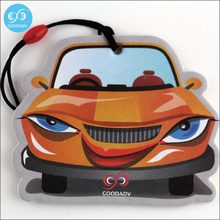 Cheap car fragrance paper with car shape air freshener for car