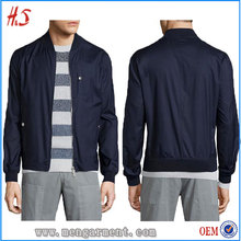 High Quality OEM Custom Wool-Blend Zip Ocean Men Bomber Jacket Made By Chinese Clothing Manufacturers