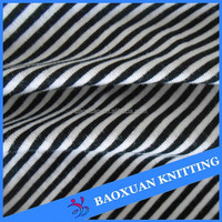 160gsm polyester spandex jersey knit black and white stripe fabric
