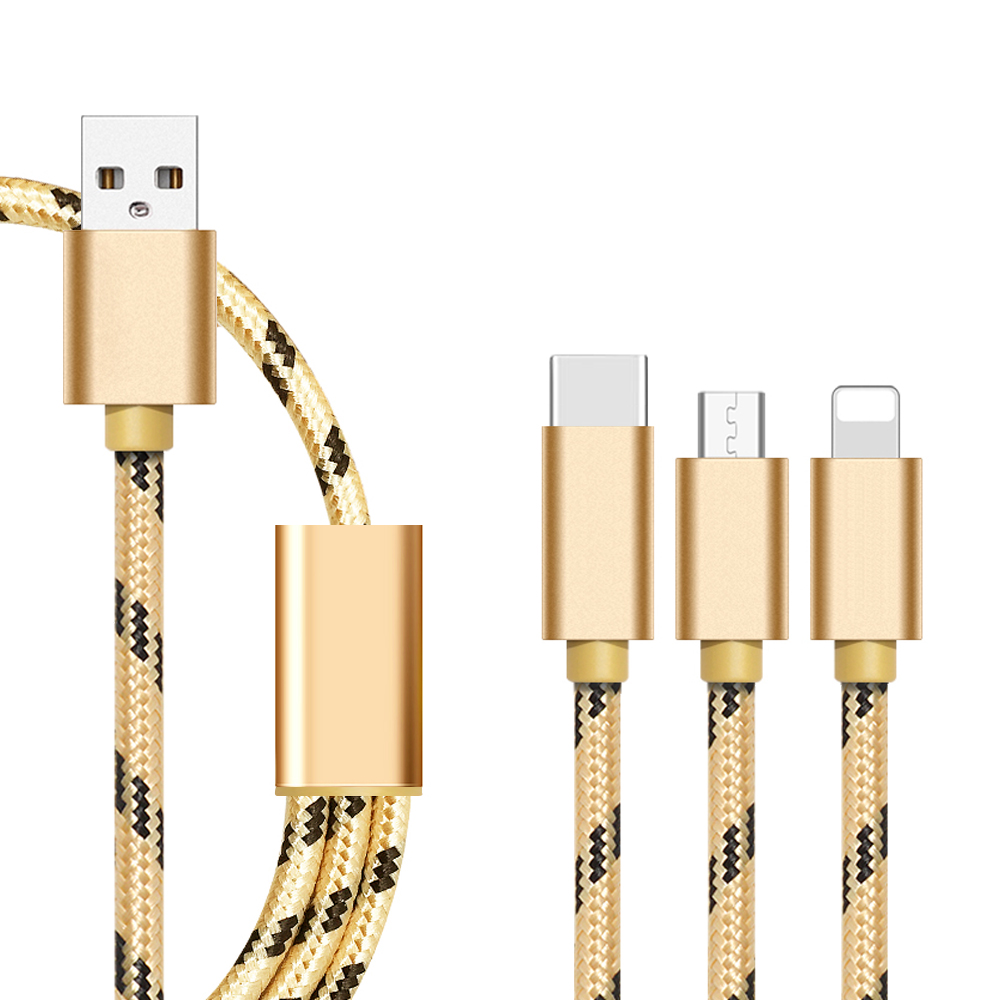 Alibaba best sellers 1.2m 4ft 3 in 1 usb data charging cable for iphone,micro,type <strong>c</strong>