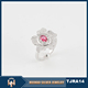 Guang zhou latest design silver 925 ladies cz ring