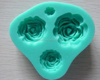 Rose Flower Shaped Silicone Mold Mould Fondant Cake Decorating Baking Tools