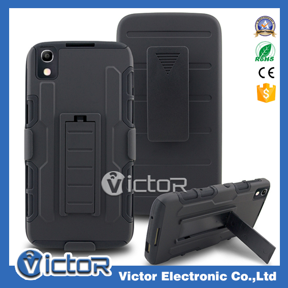 China factory hard holster robot case for Alcatel Idol 4