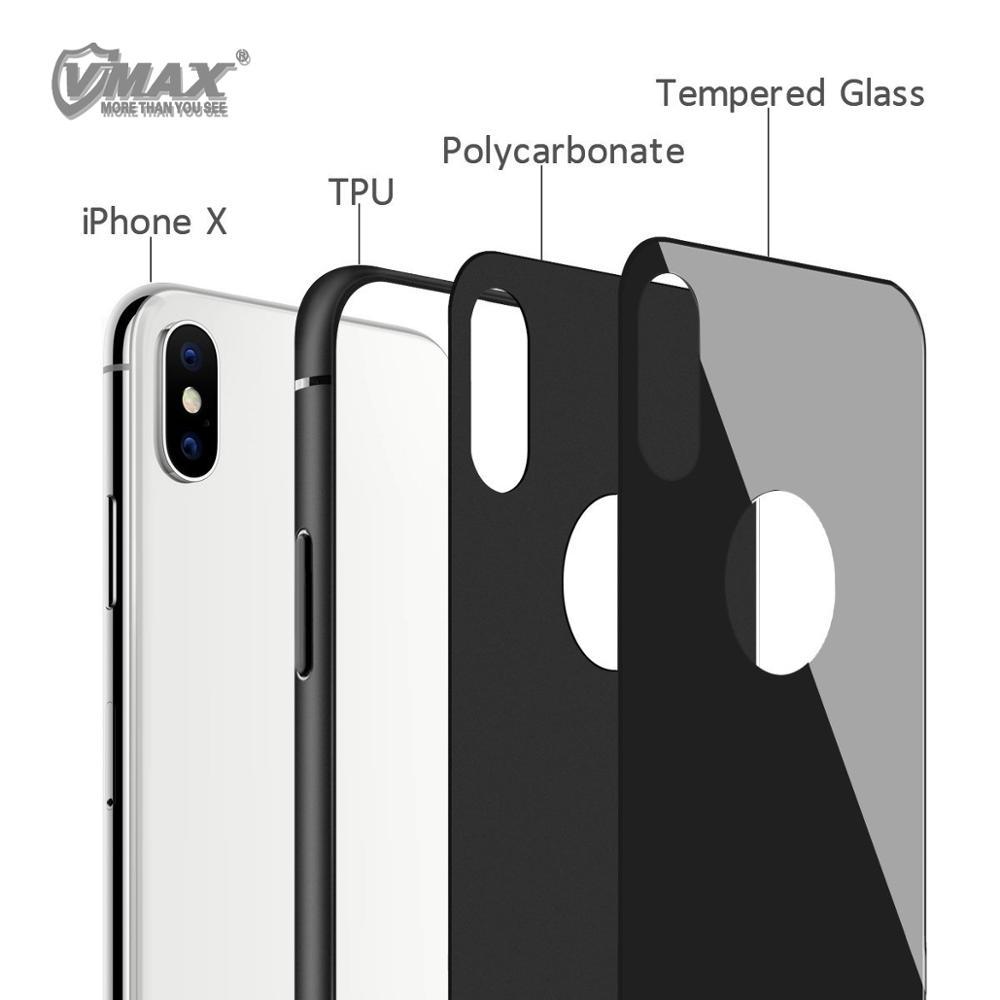 Закаленное стекло ТПУ PC Броня CASER мобильного задняя крышка для iPhone X