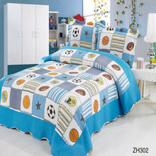 Ball pattern design sport style cotton kids bed sheet