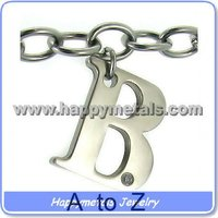 Wholesale Stainless Steel Letter Pendants Charms