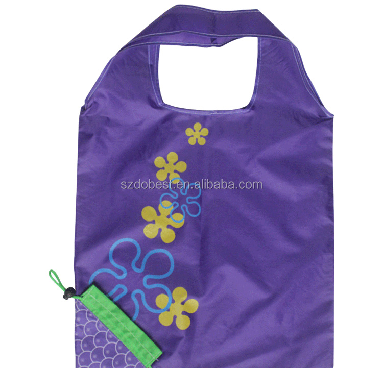 polyester tote foldable shopping bag