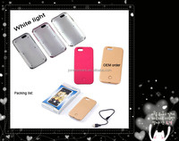 LED flash light smart phone case for iphone 5 selfie case for apple iphone
