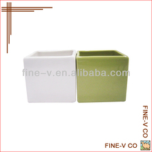 Square ceramic pen holder customized logo printing