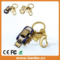luxury car gift usb flash drive bounding with keyring