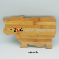 China wholesales animal shape kitchen bamboo cutting boards with LFGB/FDA