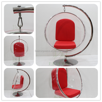 Acrylic bubble chair with stainless steel stand
