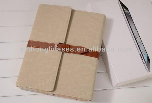 new arrival Top quality portfolio leather cover for ipad mini
