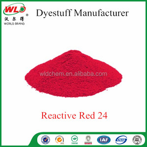 Dyeing linen fabric Reactive Red 24 Reactive Brill Red K-2BP chemical dyes for uniform