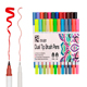 24 Color Dual Tip Brush Marker Pens with Fine Tip and Highlighter for Art Projects