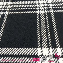 Twill Plaid 10% Wool 90% Polyester Blend 620g/m Wool Fabric