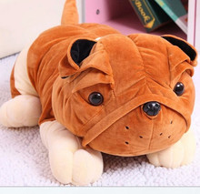 Cute plush dog with big nose and big eyes stuffed toy