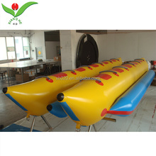 10 seat kids adult surfing water game towable tube boat inflatable banana