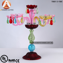 Baccarat Colorful Crystal Candelabra