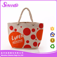 China supplier fashion wholesale canvas reusable and foldable shopping bag