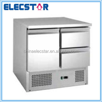 static cooling saladette counter, stainless steel refrigeration counter , restaurant kitchen equipment