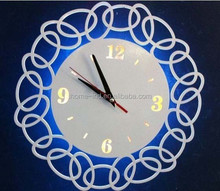 2015 wall decoration white led digital clock LED acrylic clock