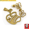 Stainless Steel Gold Plated Costume Jewelry