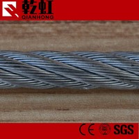 7*7 5mm galvanized steel wire rope manufacturer price per meter