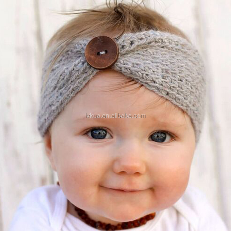 Cute Baby Knitted Headband Infant Crochet Hair Accessories