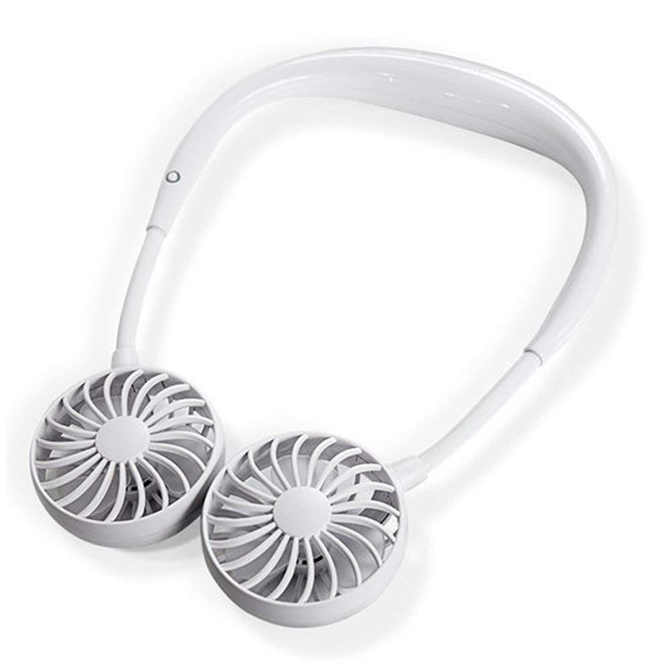 Hand Free Headphone Design Wearable Portable Neckband Mini <strong>Fan</strong> with USB Rechargeable for Traveling Outdoor Office