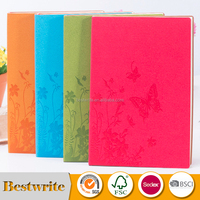 Custom Design Promotional Coloured PU Cover Notebook
