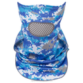 High Performance 100% Microfiber Polyester Sun Protection Mask Moisture Wicking Anti-UV UPF50+ Sublimation Camo Masks