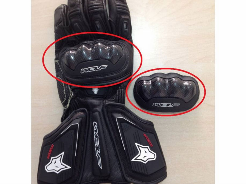 Knuckle Protector for Motorcycle Gloves