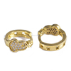 fashion classic guitar design free of allergies men's gold huggies earrings for outing