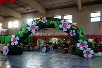 2015 cheap inflatable wedding arch with flowers