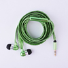Creative colorful shoelace earphone with mic glow in the dark illuminated earphones