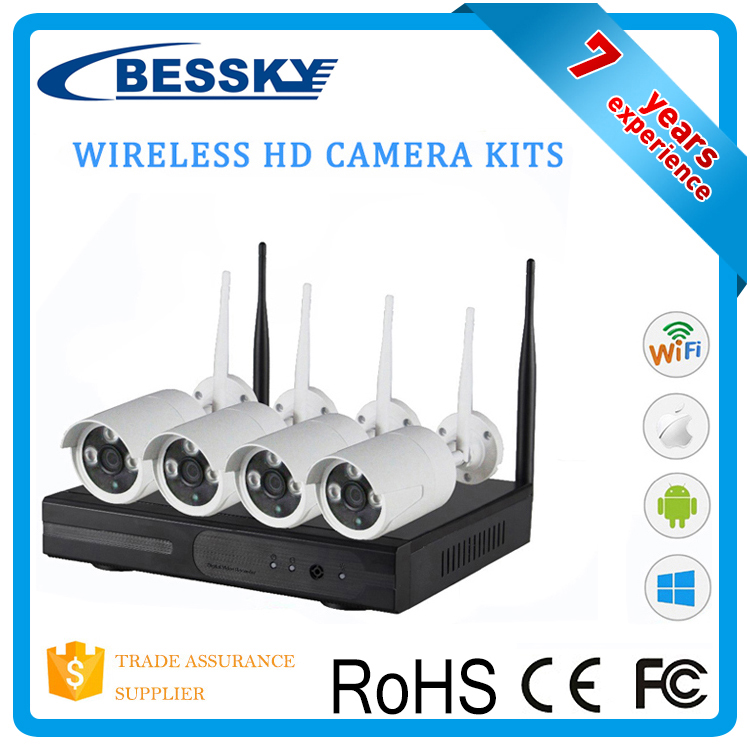 720P 1MP cctv kit video surveillance plug and play p2p wireless security cameras outdoor wifi camera Kit