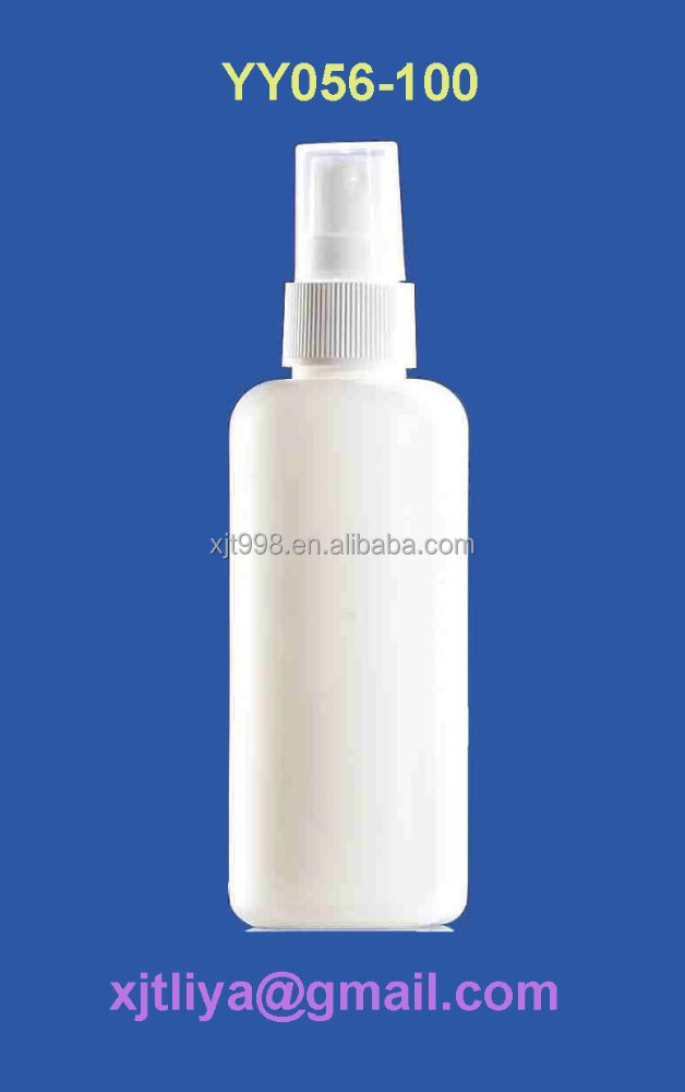 cylinder shape 100 ml HDPE portable spray bottles