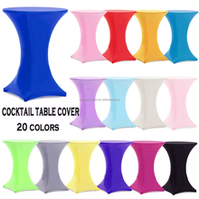 20 Colors Spandex Cocktail Table Cover For Wedding Banquet Christmas