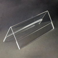 Clear Acrylic Table Top 2-Side Name Holder Display Rack Stands