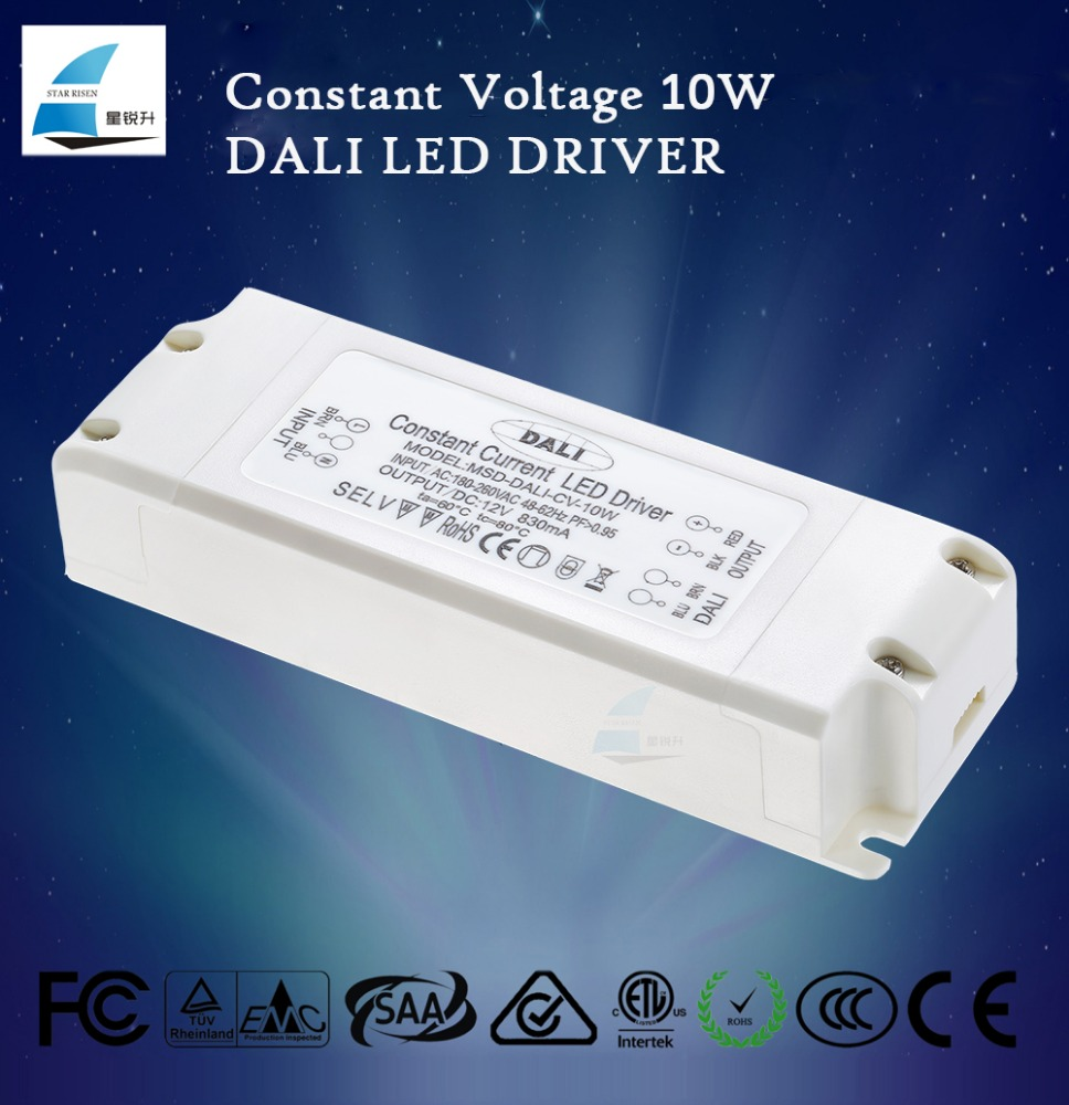 DALI Constant Voltage Dimmable LED Driver 10W for home light; DALI V0 IEC60929 DALI V1 IEC62386 standard