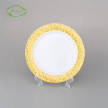 Chinese professional round banquet ps hard dessert wholesale disposable cheap plastic dinner plates for weddings
