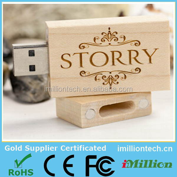 wooden usb memory stick with gift box