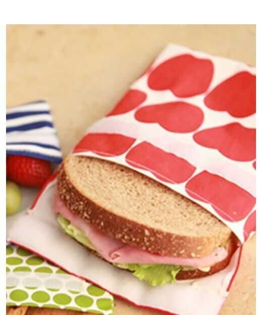 Insulated Reusable Sandwich Bag Lunch Snack Bento Picnic Pouch