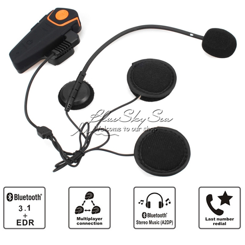 BT Interphone Bluetooth1000m Intercom Motorcycle Helmet Headset FM Radio BT-S2