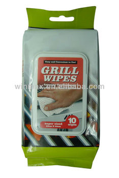 Disposable Grill Wet Wipes