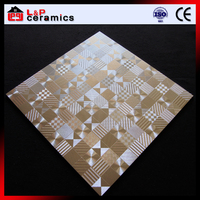 Hot sale export designs metal look metallic glazed porcelain tile