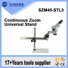 OEM Binocular Stereo Optical Microscope With Long Working Adjustable Stand