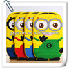 Despicable me 2 minions 3d silicone soft case,minion case for ipad 2 3 4 despicable me case